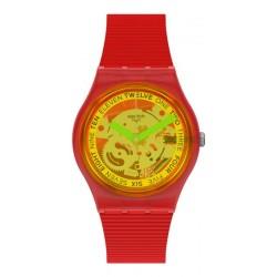 Swatch Unisexuhr Gent Retro-Rosso GR185