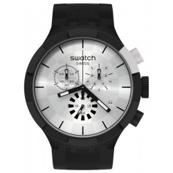 Swatch Uhr Big Bold Chrono Chequered Silver SB02B404
