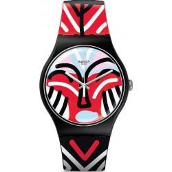 Swatch Unisexuhr New Gent Mask Parade SUOB127