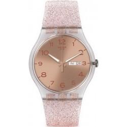 Kaufen Sie Swatch Damenuhr New Gent Pink Glistar SUOK703