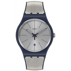 Swatch Unisexuhr New Gent Grey Cord SUON402