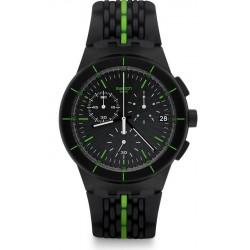 Kaufen Sie Swatch Herrenuhr Chrono Plastic Laser Track SUSB409
