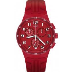 Kaufen Sie Swatch Unisexuhr Chrono Plastic Red Step SUSR404