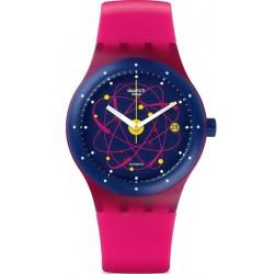 Swatch Unisexuhr Sistem51 Sistem Pink Automatik SUTR401