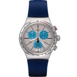 Swatch Unisexuhr Irony Chrono Blau Me On YVS435